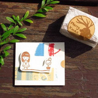 [Stock goods] handmade rubber stamp - travel (angle)