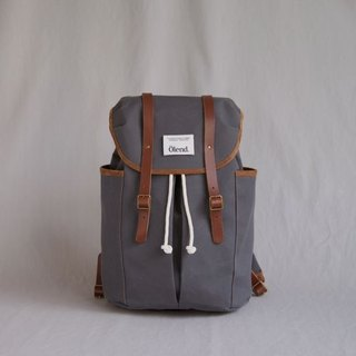 |100% handmade in Spain| Ölend Sienna Fabric| Leather |Laptop bag (Grey)