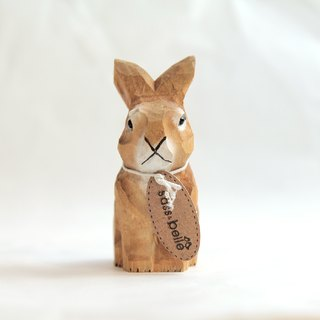 SUSS-UK vintage handmade wood carving pencil sharpener / pencil sharpener (cute little rabbit shape)