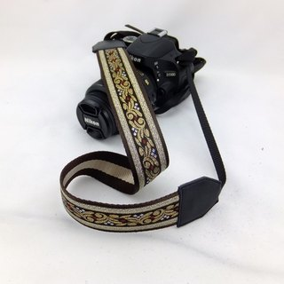 Camera strap can print personalized custom leather stitching national wind embroidery pattern 031