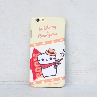 Dollmei iPhone 6 Phone Case Be strong and courageous cowboy cute yellow cat