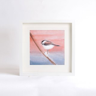 Original Watercolor Painting, Little Bird - The Third Little Black Head, Gift for Housewarming