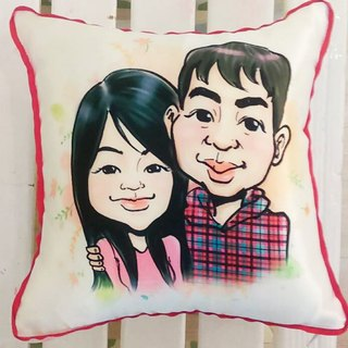 GiftPaint sweet painted happiness & custom portrait pillow [portrait] double portrait