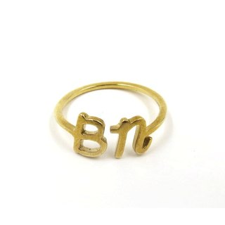Customized jewelry rings - three-dimensional printing x Initials Ring x Personalized