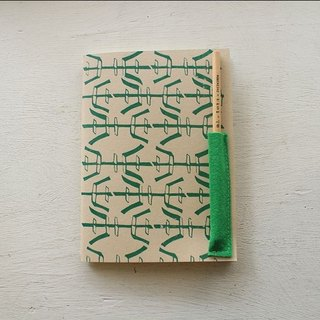 [ZhiZhiRen] Yuan | car suture Notebook - salt away behind bars - green