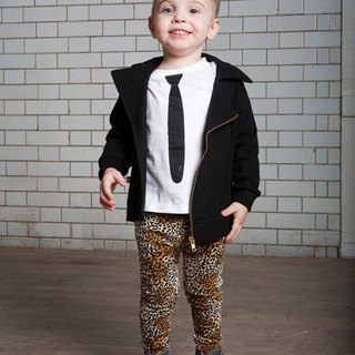 British oh Baby London rave organic cotton leopard pants / leggings