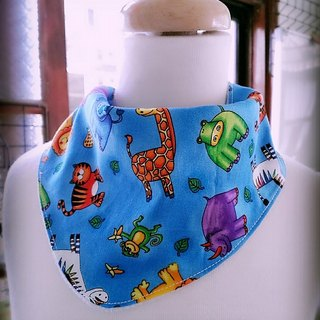 Animal World triangular scarf / bibs
