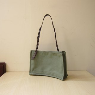 *Retro green*temperament elegant woven handbag
