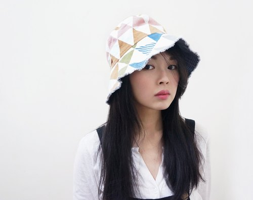 Fantastic Two-Sided Fisherman Hat | Matte Geometric Triangular