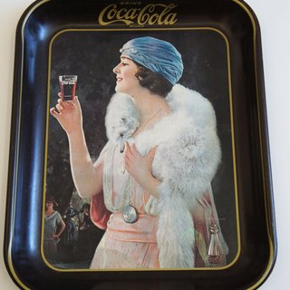 Coca-Cola pattern antique iron tray PdB