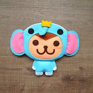 boboSARU Bobo elephant monkey zipper bag models