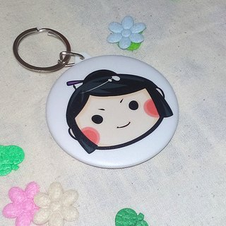 [Nōhime mirror key ring +] badge [into] two