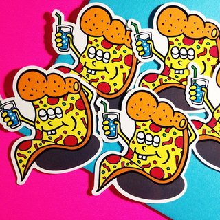 PIZZA HOT-LINE texture series / sticker