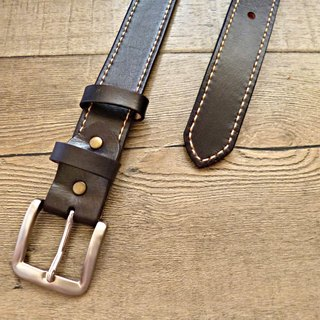 "POPO│ │ handmade fresh black belt │38 ""~ 43"""