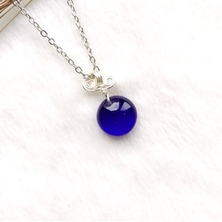 Sweet Candy Candy Glass Necklace - Royal Blue
