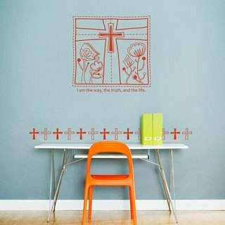 / Quote / The Cross / Wall Sticker / ECO-Material
