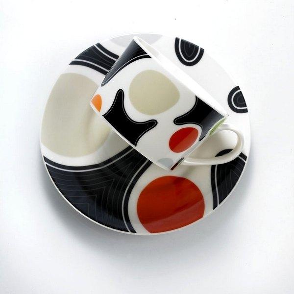 ★水玉點點控★TAISO 普普風咖啡杯組-勁炫橘