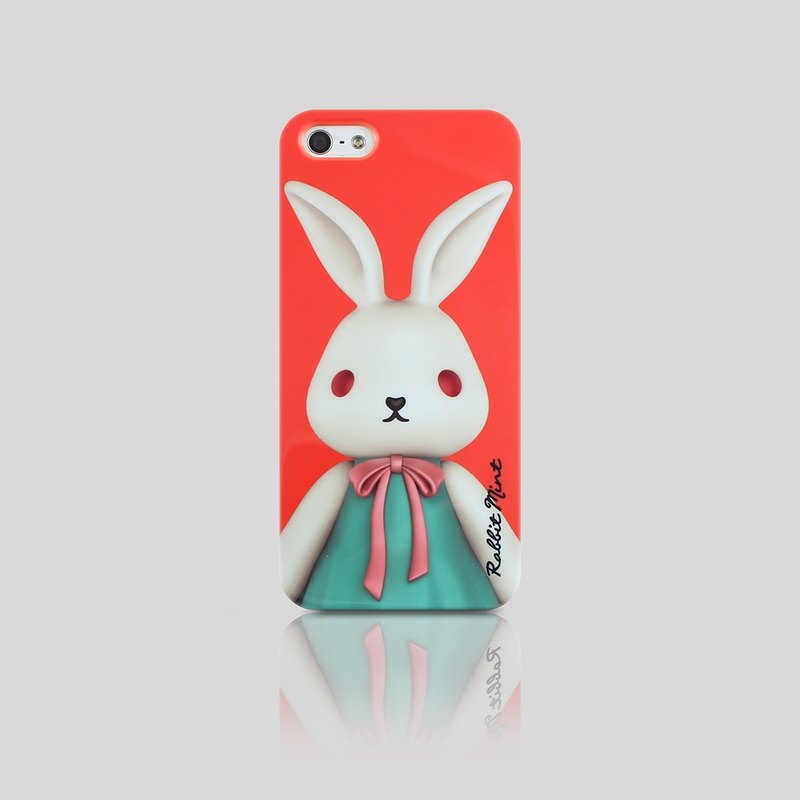 (Rabbit Mint) Mint Rabbit Phone Case - Bu Mali Merry Boo - iPhone 5 / 5S (M0001)
