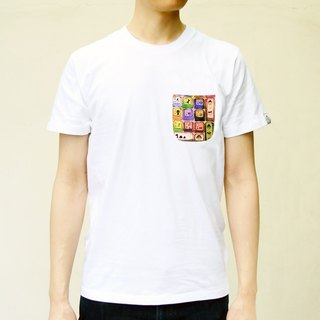 [BestFriend] Keyboard Pocket T-shirt / print pocket short T