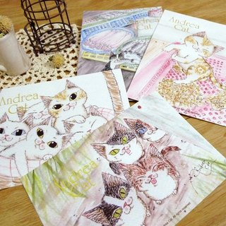 Andrea Cat - Felicity Cats Kittens Postcards (4 in total)