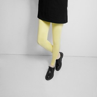 I A N Design natural hand-dyed - inner Shanzhizi super-elastic organic cotton leggings Organic Cotton