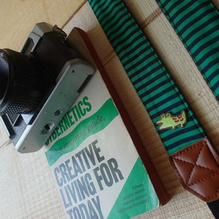 HiDots together to travel the camera strap (green and blue stripes * crocodile)