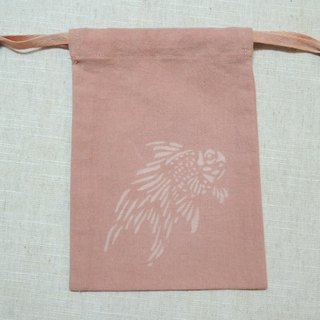 Mumu [vegetation] madder root vegetable dyes dyed pink pouch (carp paragraph)