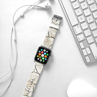 Apple Watch Series 1 , Series 2, Series 3 - White Break Pattern Watch Strap Band for Apple Watch / Apple Watch Sport - 38 mm / 42 mm avilable