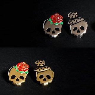 Eternal Love skull stud earrings, Skull earrings