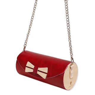 Wooden Cylinder Bag / leather cylinder bag / cross body bag