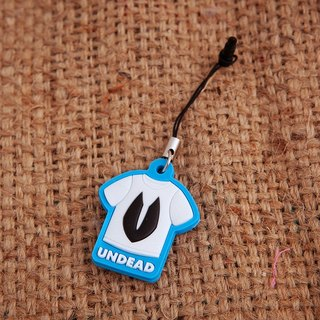 UNDEAD mobile phone strap - blue