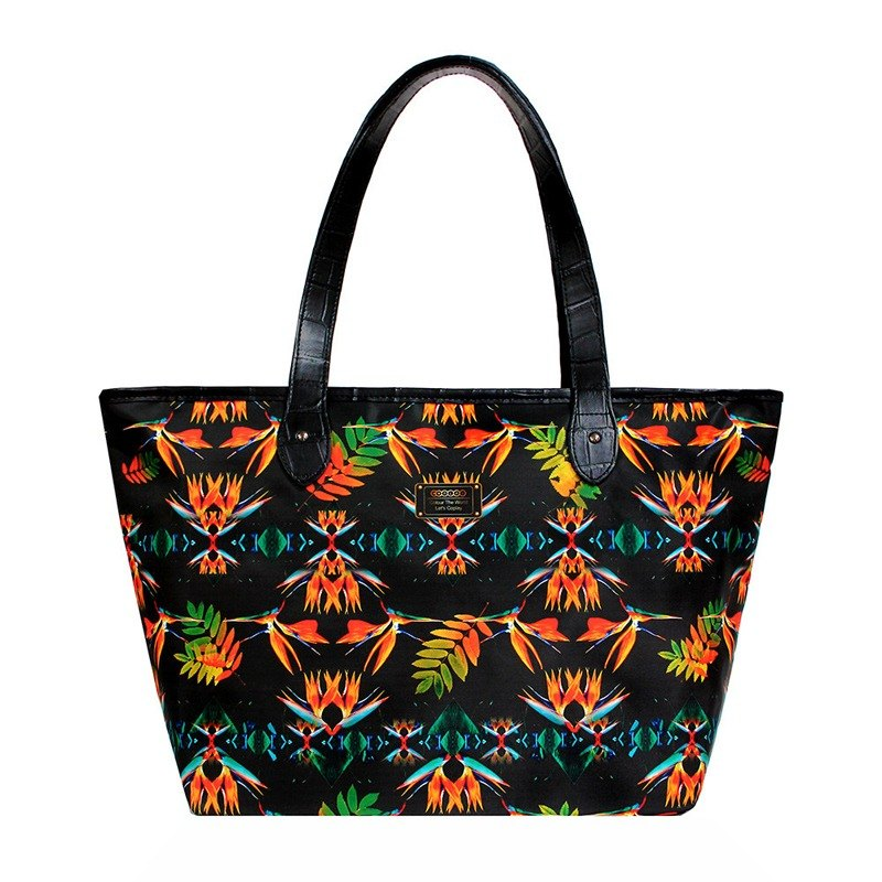 COPLAY tote bag III-heaven bird (Black)