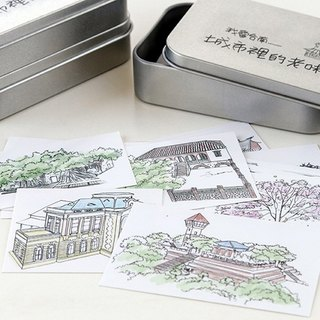 Tainan Monuments boxed sticker