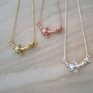 [Jewelry] Jin Xialin ‧ rose buds 01 necklace gold / silver / rose gold tricolor