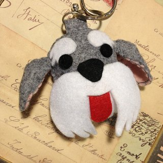 """Christmas presents"" chirp microphone keychain - Schnauzer (light pressure may sound)"