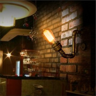 "Loft Style Wall Lamp Sconce""Iron Sprout"", Steam Punk, Industrial"
