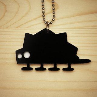 【Peej】'Extinct Dino' Double layered Acrylic key chains/necklaces