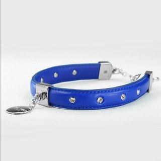 [Double-purpose] point drill leather leather collar ((send lettering))