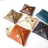 5手縫皮件│ 植韖-四角零錢包