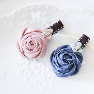 Small blue flower clip
