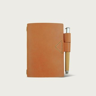 N2 mini notebook case (with notebook) -- Camel Yellow