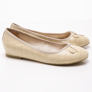 [Saint Landry] LAND crocodile pattern bow ballet shoes (m)