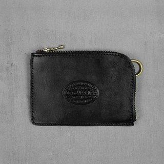 [METALIZE] SEAL LEATHER CARD & COIN CASE Stamped Leather Leather Purse