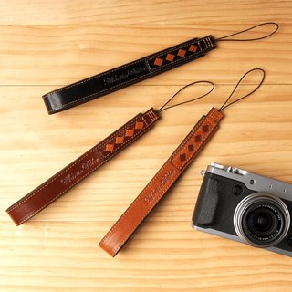 Weave Leather Hand strap Light Brown / Red Brown / Black