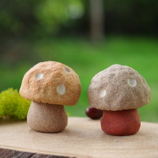 "Mushroom Village - Mushroom Village - Super cute pottery hand-made ""little"" small mushrooms / Price 2 1 group"
