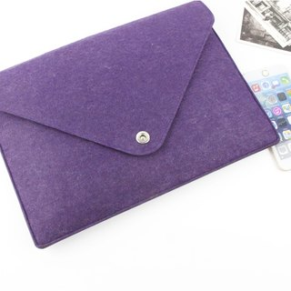"Original Handmade Purple Felt Apple Computer Case Blades Set Macbook 12 ""Laptop Bag Computer Case Macbook 12"" (can be tailored) - ZMY057PU12A"