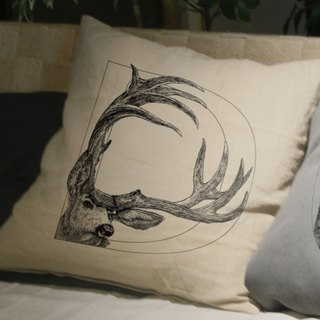 [D] eer Deer: hand-painted letters pillow
