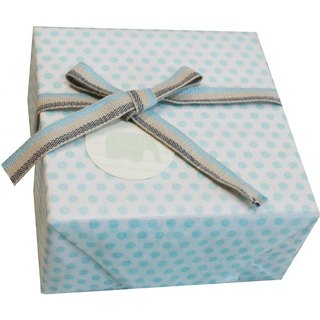 WRAPPING PAPER-BLUE DOTS