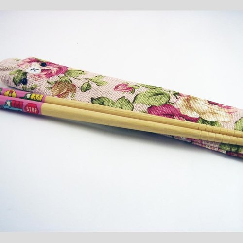 "Cheerful. Hand sewing Limited ""portable chopsticks sets / chopsticks / chopsticks / cutlery 'love"