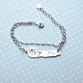 Sea otter - Classic animal hollow series (925 silver bracelet) - Cpercent